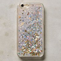 Floating Glitter iPhone 6 & 6 Plus Case by Anthropologie in Silver Size: Iphone 6