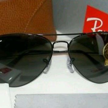 Rayban sunglasses 3026 Black Polarized RX-able Aviators