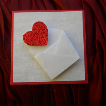 Mini Card Set- Set of 10 mini Cards - Sending Love Valentine's Day Card Set
