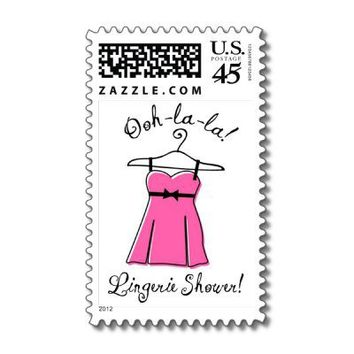 Pink Lingerie Bridal Shower Postage from Zazzle.com