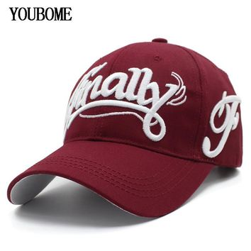 Trendy Winter Jacket YOUBOME Baseball Cap Hats For Men Brand Snapback Caps Women MaLe Cotton Trucker Embroidery Letter Casquette Bone Dad Hat Caps AT_92_12