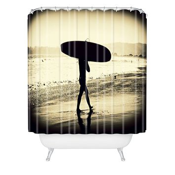Shannon Clark Surfers Silhouette Shower Curtain