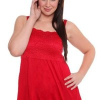 Torrid Plus Size Red Lace Top Rayon Cami