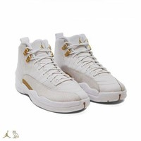 PEAP Ready Stock NIKE air jordan 12 ovo Men White AJ12 Sneakers