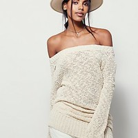 Free People Womens Lazy Sunday Slouch Sweater