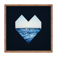 Leah Flores Ocean Heart Square Tray