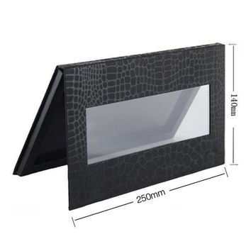 CREY8UV 4 Different Size Magnetic Eyeshadow Palette,Crocodile Black Blank Pattern,Professional Naked Makeup Stroage.