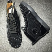 Cl Christian Louboutin Louis Spikes Style #1835 Sneakers Fashion Shoes