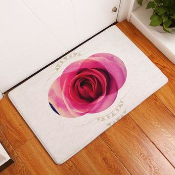 Autumn Fall welcome door mat doormat Smiry commercial entrance s pretty circle rose flower scenery carpets water absorption living room decoration stair rugs AT_76_7
