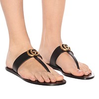 GUCCI GG Leather Sandals
