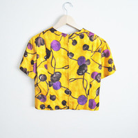 Yellow Lily - Vintage 60s Fitted Structured Crop Top Summer Trend