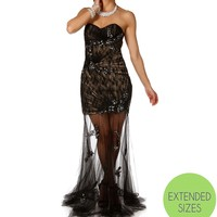 Sale-liz Jeweled Long Prom Dress