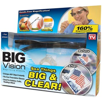 Big Vision Glasses Reading Bigger Magnifying Glasses Eyewear As Seen On TV