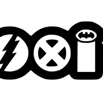 Coexist Marvel Logo Vinyl Car Decal