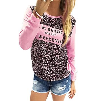 Leopard Women's Fashion Print Fashion Stylish Tee T-shirts = 5893396993