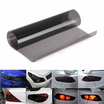 1pc 30*120cm Black Automobiles Car Light Headlight Taillight Tint Vinyl Film Sheet Sticker Fog Lamp Smoke Film Car Styling