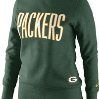 Green Bay Packers Women's Green Nike Tailgater Fleece Crew Sweatshirt
