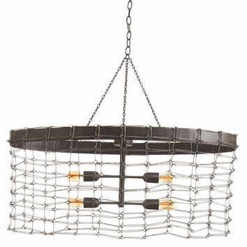 Arteriors Home Trudy 4L Oval Iron Wire Link Pendant - Arteriors Home 46644