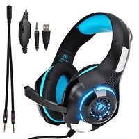 Gaming headphones with LED light For PC, PS4, Computer, Laptops, Tablets and Smartphones