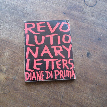 City Lights Pocket Poets No. 27; Diane Di Prima's Revolutionary Letters - City Lights Di Prima Letters - Beat Poetry Hippie Consciousness