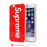 Fashion Supreme Back Cover for Apple iphone 5 5s 6 6s 6plus Soft TPU Phone case Free Shipping Capa Celular