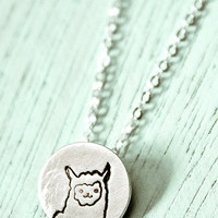 Miniature Llama Necklace (Sterling Silver)
