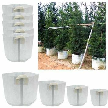 5 Packs Fabric Grow Bags Smart Pots Container