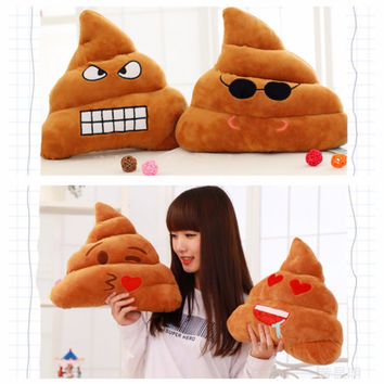 Funny Poo Emoji Smiley Pillow Soft Poo Bolster cushion Cotton Bedding Funny Pillow Tricky Toy Bolster Christmas Gifts