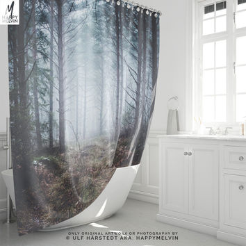 No roads | Shower Curtain | Curtain | Forest Shower Curtains | Nature Shower Curtains | Boho Bathroom Decor | Photo | Forest Home Decor
