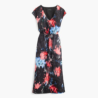 J.Crew Womens Tall Drapey Side-Slit Dress In Floral Splash