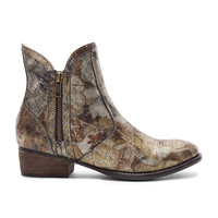 Seychelles Lucky Penny Bootie in Metallic Brocade Leather
