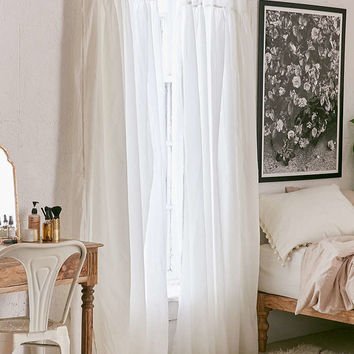 Plum & Bow Gathered Voile Curtain - Urban Outfitters
