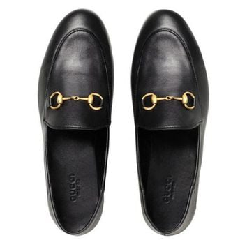 Gucci Brixton Horsebit Loafers Farfetch
