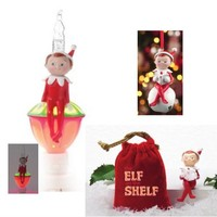 Elf on the Shelf Bundle Gift Set - Includes Elf on the Shelf Figurine in Velvet Pouch, Elf Bubble Night Light and an Elf Jingle Buddy Ornament