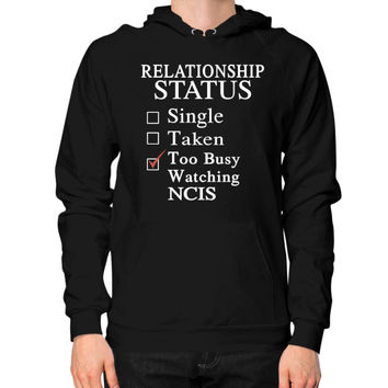 RELATIONSHIP STATUS WATCHING NCIS Hoodie (on man)