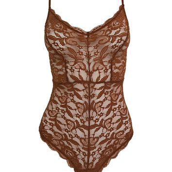 Luna Bodysuit in Rust