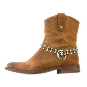 Boot Bling Turquoise Horseshoe Boho Boot Chain