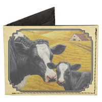 Holstein Cow and Calf Tyvek Wallet