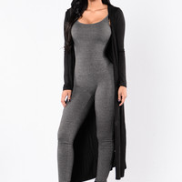 Addicted To You Cardigan - Black
