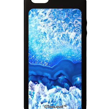 Blue Agate Geode Print iPhone 5C Grip Case All Over Print