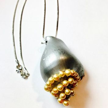 Pearl and Conch Shell Necklace