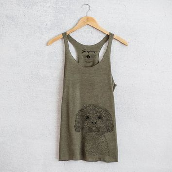 Lane the Lhasa Apso - Tri-Blend Racerback Tank Top