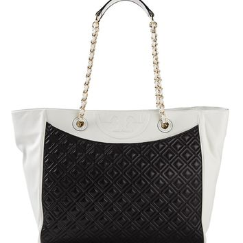 Tory Burch 'Fleming' Quilted Tote