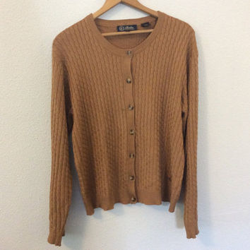 Vintage Womens Cardigan Sweater / 90's Cardigan / Womens Sweater
