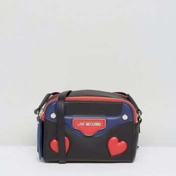 Love Moschino Heart Print Crossbody Bag at asos.com