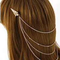 Golden Pyramid Hair Clip
