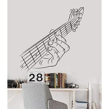 Vinyl Wall Decal Guitar Hand Guitarist Musician Music Rock Star Stickers Unique Gift (1186ig)