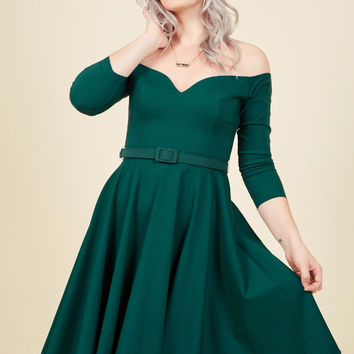 Twirl Me What You Think A-Line Dress | Mod Retro Vintage Dresses | ModCloth.com