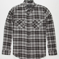 Shouthouse Cole Mens Flannel Shirt Gray  In Sizes