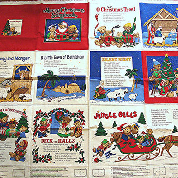 Soft Book Sewing Fabric Panel Baby Soft Book Panel Christmas Book